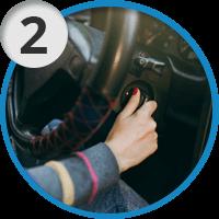2. Заглушите автомобиль