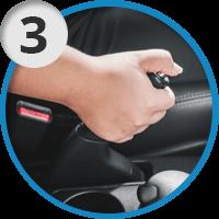 3. Поднимите ручник