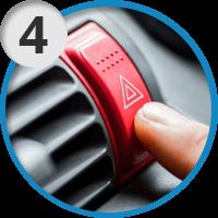 4. Включите аварийку