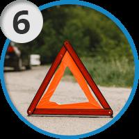 6. Выставите знак аварийной остановки (не менее 15 м.)